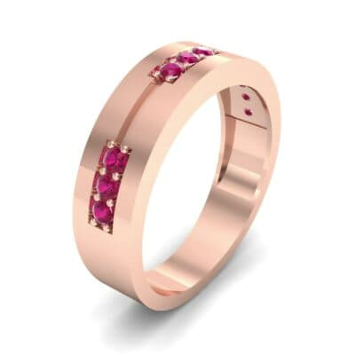 Pave Node Ruby Ring (0.27 CTW)