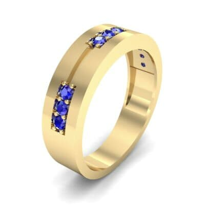 Pave Node Blue Sapphire Ring (0.27 CTW)