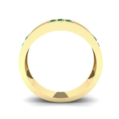 Pave Node Emerald Ring (0.27 CTW) Side View