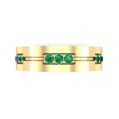 Pave Node Emerald Ring (0.27 CTW) Top Flat View