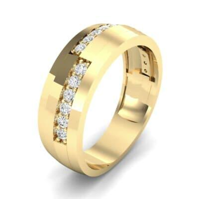 Pave Blocks Diamond Ring (0.36 CTW) Perspective View