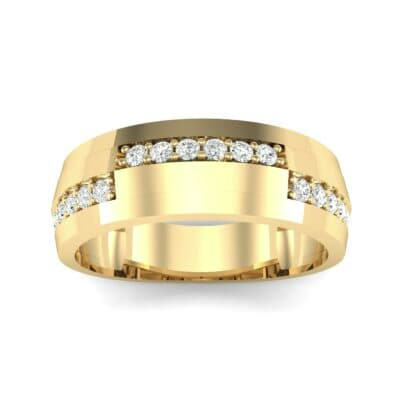 Pave Blocks Diamond Ring (0.36 CTW) Top Dynamic View
