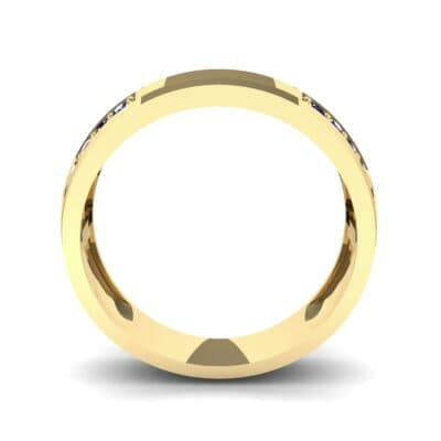 Pave Blocks Blue Sapphire Ring (0.36 CTW) Side View