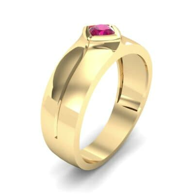 Wide Compass Solitaire Ruby Ring (0.25 CTW)