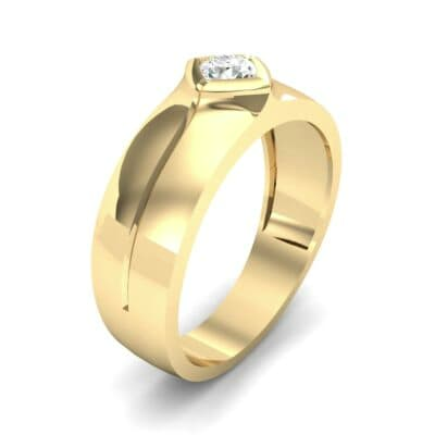 Wide Compass Solitaire Diamond Ring (0.25 CTW)