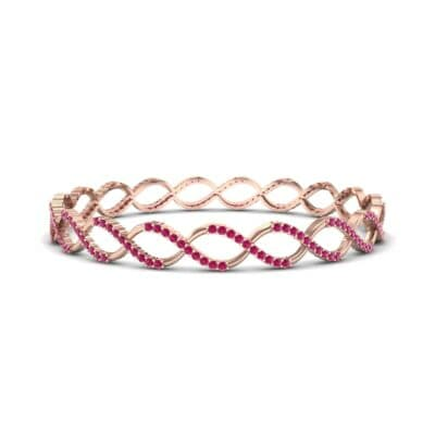 Pave Eternity Ruby Bangle (2.85 CTW) Perspective View