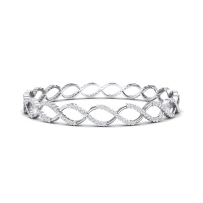 Pave Eternity Crystal Bangle (2.85 CTW) Perspective View
