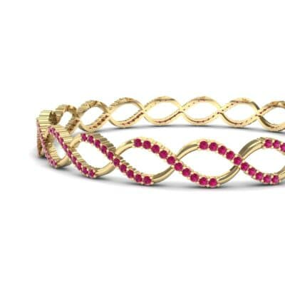 Pave Eternity Ruby Bangle (2.85 CTW) Top Dynamic View