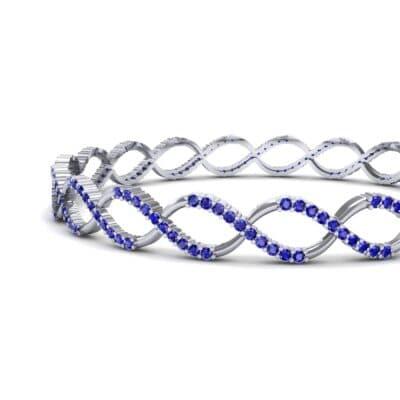 Pave Eternity Blue Sapphire Bangle (2.85 CTW) Top Dynamic View