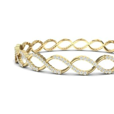 Pave Eternity Diamond Bangle (2.85 CTW) Top Dynamic View