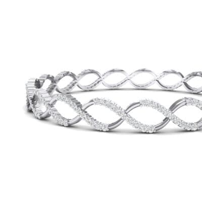Pave Eternity Crystal Bangle (2.85 CTW) Top Dynamic View
