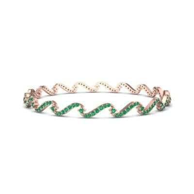 Pave Tidal Emerald Bangle (1.91 CTW) Perspective View