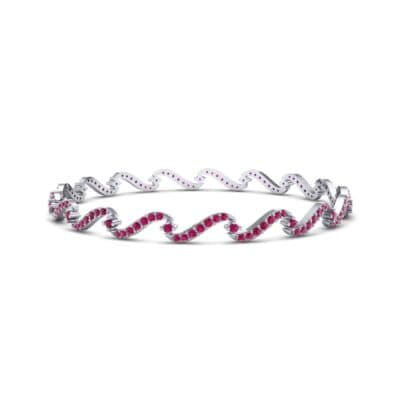 Pave Tidal Ruby Bangle (1.91 CTW) Perspective View