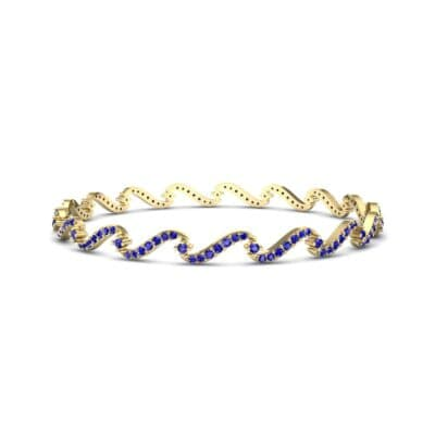 Pave Tidal Blue Sapphire Bangle (1.91 CTW) Perspective View