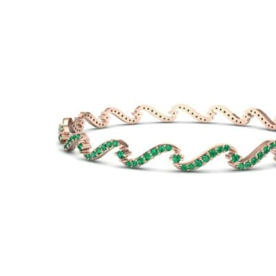 Pave Tidal Emerald Bangle (1.91 CTW) Top Dynamic View