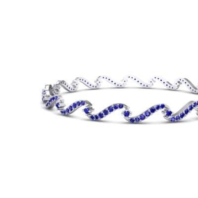 Pave Tidal Blue Sapphire Bangle (1.91 CTW) Top Dynamic View