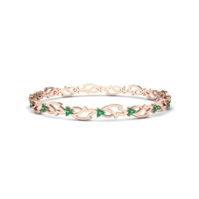 Jeweled Ivy Emerald Bangle (0.78 CTW) Perspective View