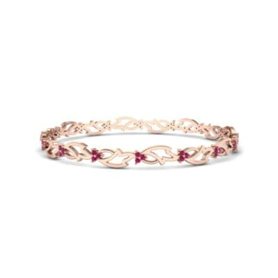 Jeweled Ivy Ruby Bangle (0.78 CTW) Perspective View