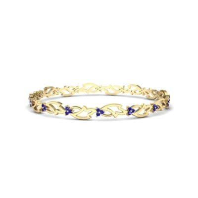 Jeweled Ivy Blue Sapphire Bangle (0.78 CTW) Perspective View