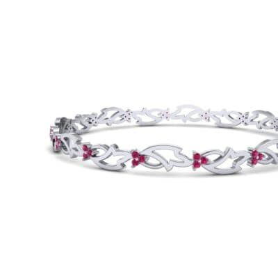 Jeweled Ivy Ruby Bangle (0.78 CTW) Top Dynamic View