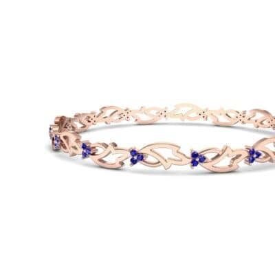 Jeweled Ivy Blue Sapphire Bangle (0.78 CTW) Top Dynamic View