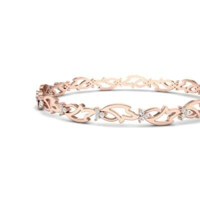 Jeweled Ivy Diamond Bangle (0.78 CTW) Top Dynamic View