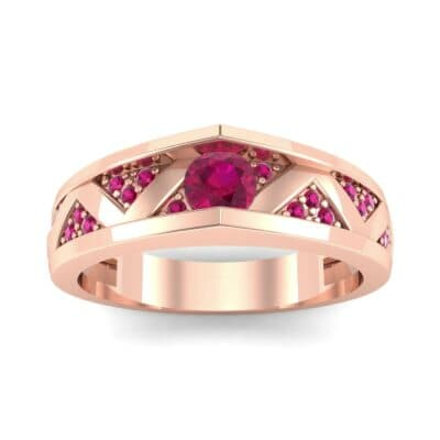 Fine Pave Crevice Ruby Engagement Ring (0.44 CTW) Top Dynamic View