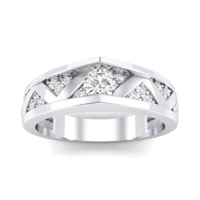 Fine Pave Crevice Crystal Engagement Ring (0.44 CTW) Top Dynamic View