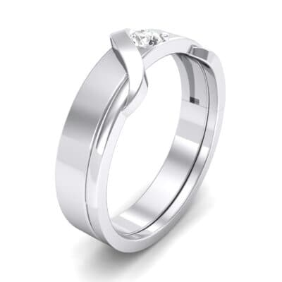 Tilde Solitaire Diamond Engagement Ring (0.17 CTW) Perspective View