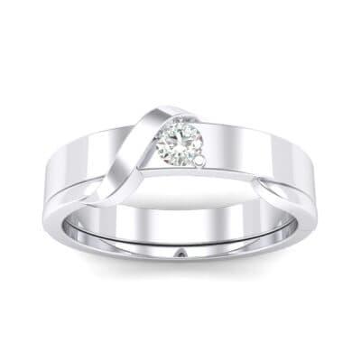 Tilde Solitaire Diamond Engagement Ring (0.17 CTW) Top Dynamic View