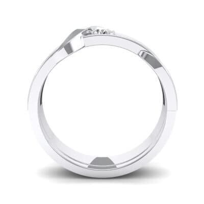Tilde Solitaire Diamond Engagement Ring (0.17 CTW) Side View