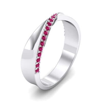 Pave Twist Ruby Ring (0.14 CTW) Perspective View