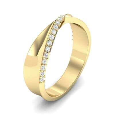 Pave Twist Diamond Ring (0.14 CTW) Perspective View