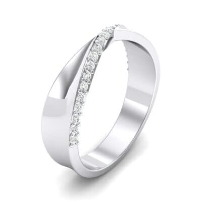 Pave Twist Crystal Ring (0.14 CTW) Perspective View