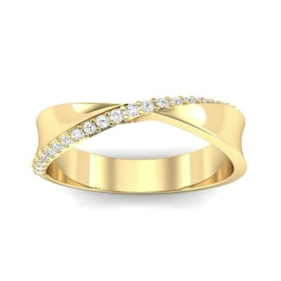 Pave Twist Diamond Ring (0.14 CTW) Top Dynamic View