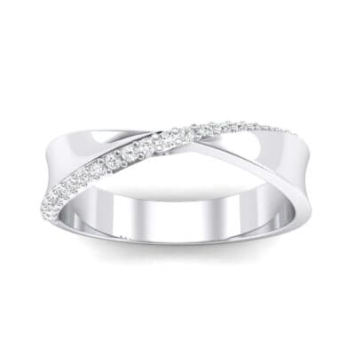 Pave Twist Crystal Ring (0.14 CTW) Top Dynamic View