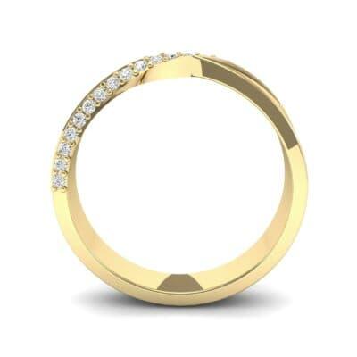 Pave Twist Diamond Ring (0.14 CTW) Side View