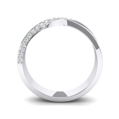 Pave Twist Crystal Ring (0.14 CTW) Side View