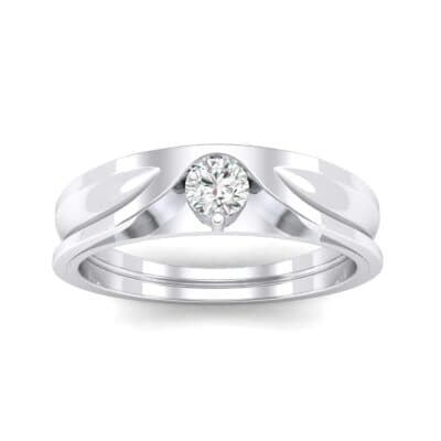 Fluted Diamond Engagement Ring (0.17 CTW) Top Dynamic View