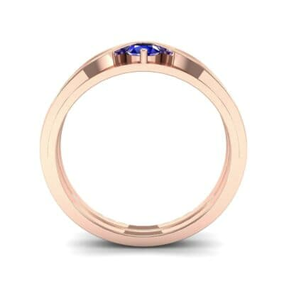 Fluted Blue Sapphire Engagement Ring (0.17 CTW) Side View