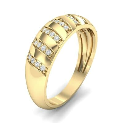 Pave Plume Diamond Ring (0.16 CTW)