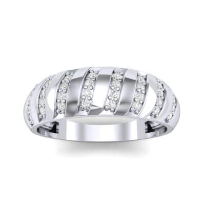 Pave Plume Diamond Ring (0.16 CTW) Top Dynamic View