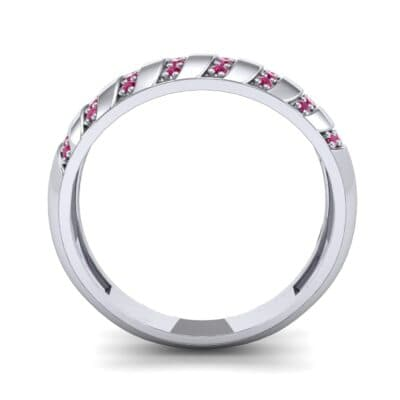 Pave Plume Ruby Ring (0.16 CTW) Side View