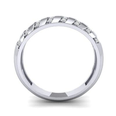 Pave Plume Diamond Ring (0.16 CTW) Side View