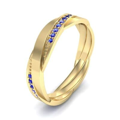 Pave Weave Blue Sapphire Ring (0.17 CTW) Perspective View
