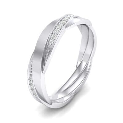 Pave Weave Crystal Ring (0.17 CTW) Perspective View