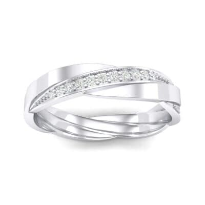 Pave Weave Crystal Ring (0.17 CTW) Top Dynamic View