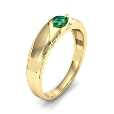 Voyage Solitaire Emerald Ring (0.17 CTW) Perspective View
