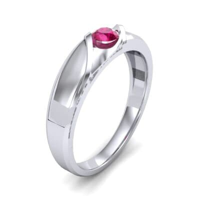 Voyage Solitaire Ruby Ring (0.17 CTW) Perspective View