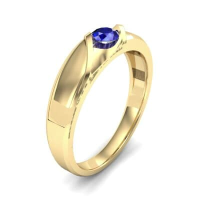 Voyage Solitaire Blue Sapphire Ring (0.17 CTW) Perspective View